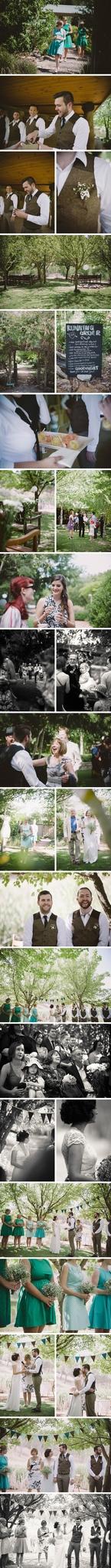 Rustic Redbrow Garden Wedding Photos